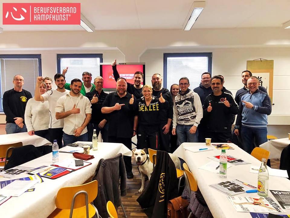berufsverband Kampfkunst bei einer Fortbildung in München